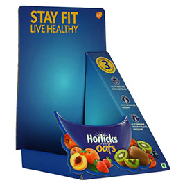 Horlicks Oats corrugated counter displays