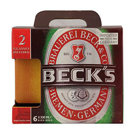 Beck's shelf ready packs